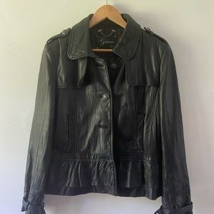 Guess 1981 leather jacket